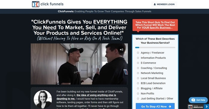 ClickFunnels Home Page