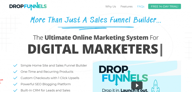 DropFunnels Home Page