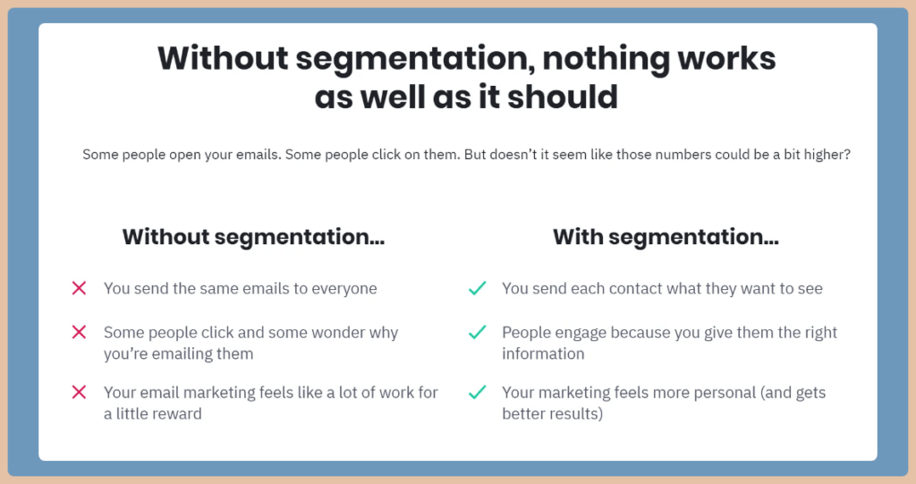 ActiveCampaign Segmentation Tags Custom Fields Lists