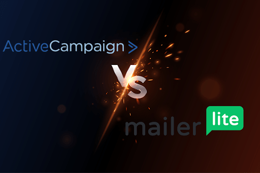 a graphical representation showing MailerLite Vs ActiveCampaign