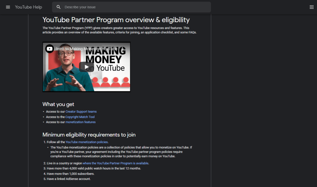 You can make money as a university student when you sign up for the YouTube Partner Program.